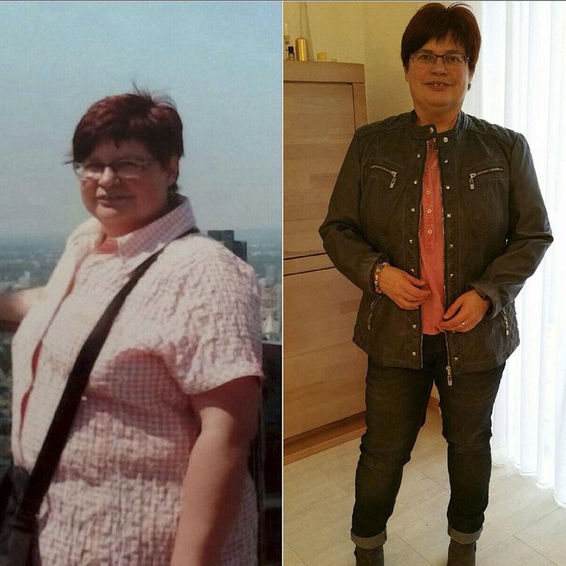 Vorher / Nachher- Bild von Ines (Erfahrungen im Fitness-Zirkel)