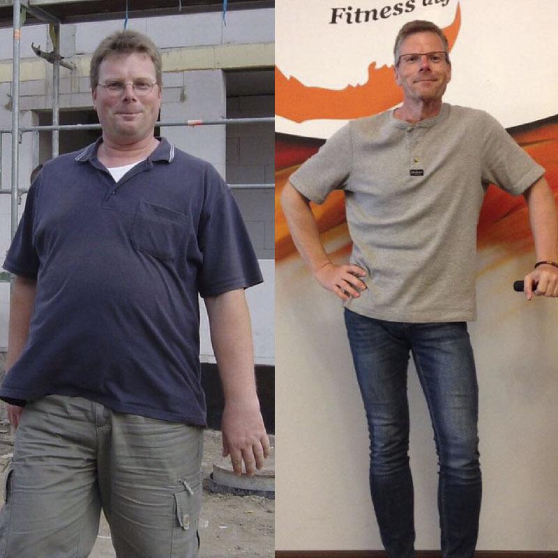 Vorher / Nachher- Bild Christian (Erfahrungen im Fitness-Zirkel)