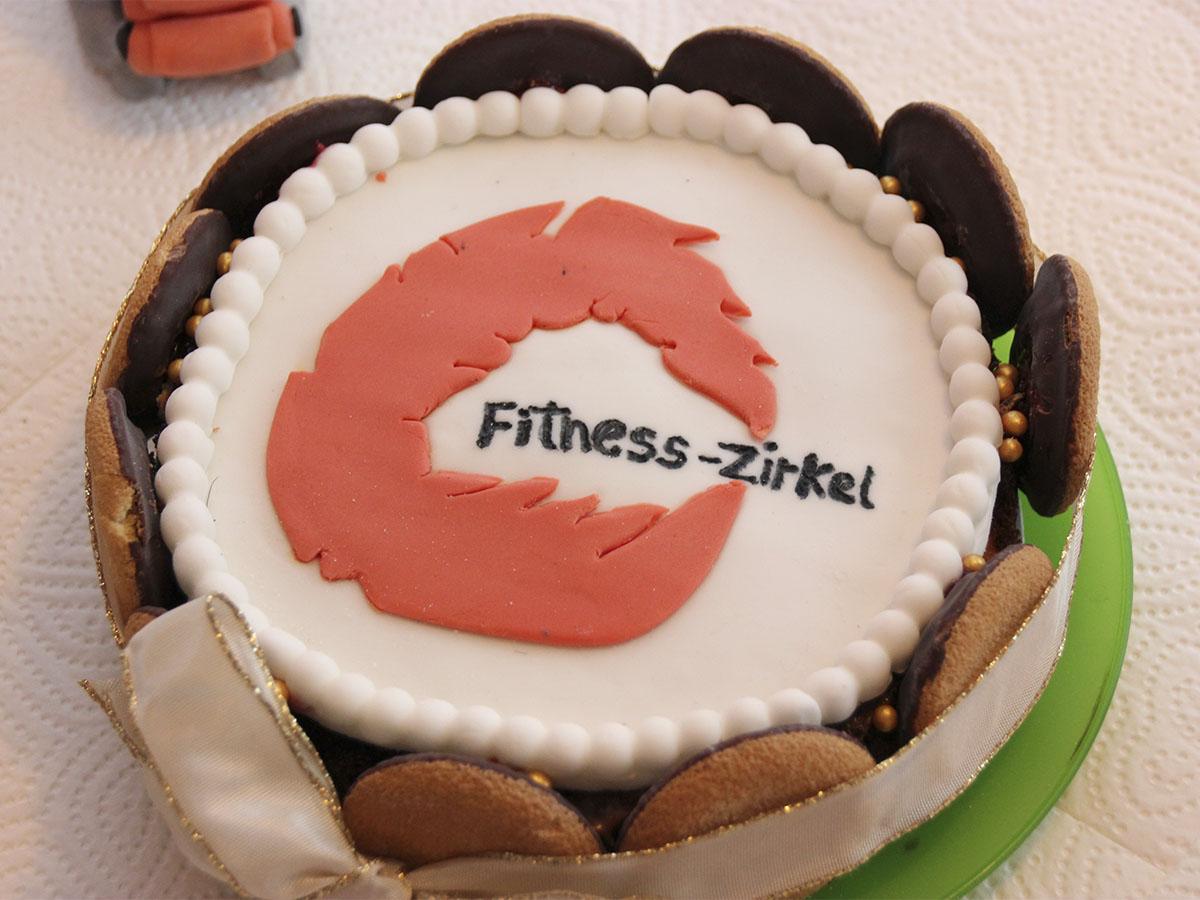 Der Fitness-Zirkel Kuchen